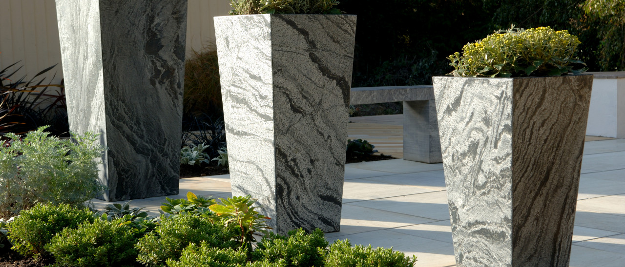 Couture Grey Slate Planters