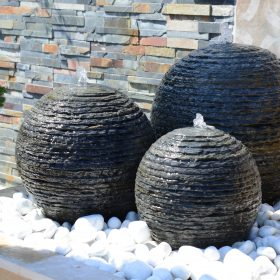 Belmont Trio (40/50/60) Layered Slate Water Feature and Kit