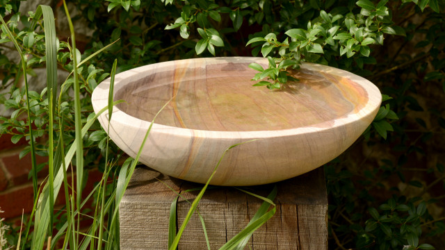 Flight Bowl - Rainbow Sandstone Birdbath - Bowl Only