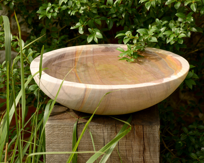 Acorn Birdbath on Oak Plinth