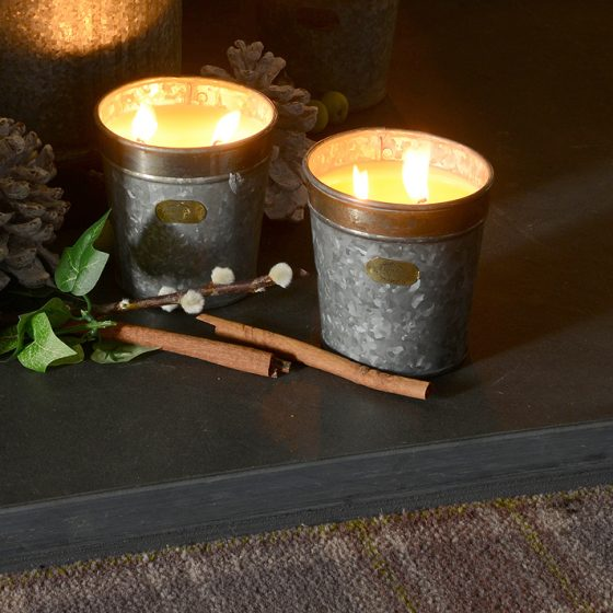 Set of Two Croxton Aromatherapy Hand Mixed Candles