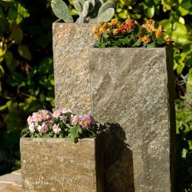 Surmi Set Bundle One Natural Slate Vase / Planter