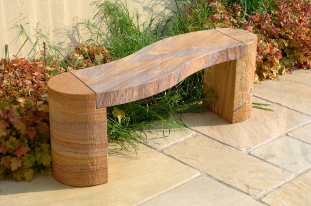 Foras Jasper Curved Sandstone Bench