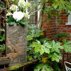 Surmi 60cm Rectangle Natural Slate External Planter