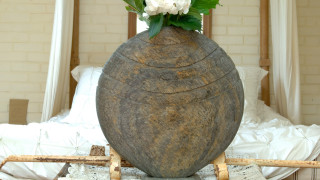 Caviara Natural Slate Vase Sculpture