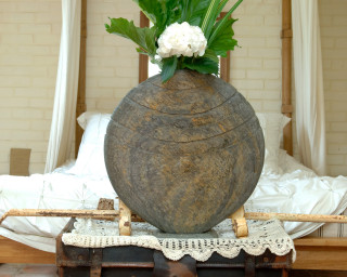 Caviara Natural Slate Vase Sculpture