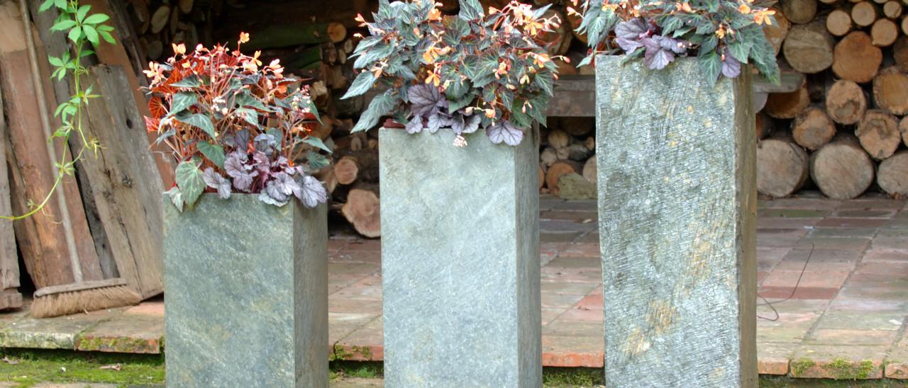 Surmi Square Slate Planter / Plinth