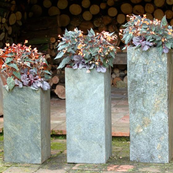 Surmi Square Natural Slate External Planter / Plinth