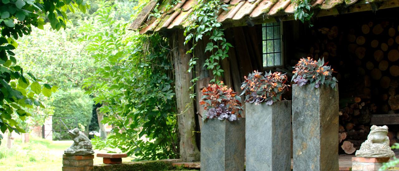Surmi Square Slate Planters / Plinths