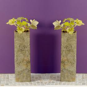 Surmi Natural Slate Planter – 50cm Square