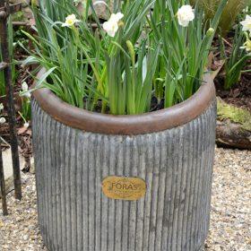 Wootton Vintage Metal Tub Planter