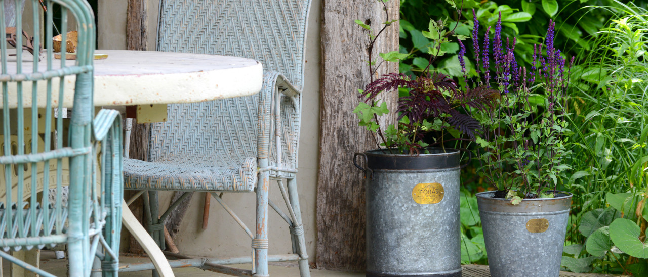 Vintage pots and planters