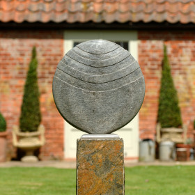 Caviara 60cm Natural Slate Sculpture With Surmi Plinth