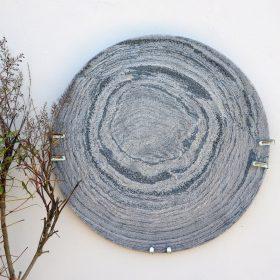 Sea Salt Natural Slate Sculptural Bowl