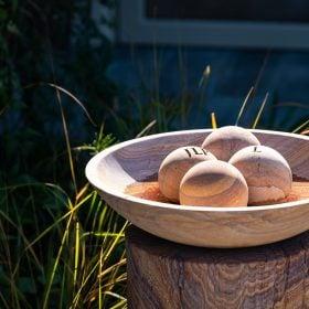 Flight Bowl – Rainbow Sandstone Birdbath – Bowl Only