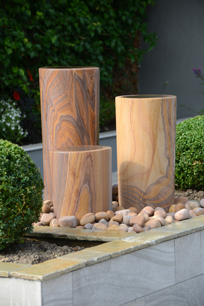 Foras Albany Set of 3 rainbow sandstone water feature including all component parts ready to plug and go