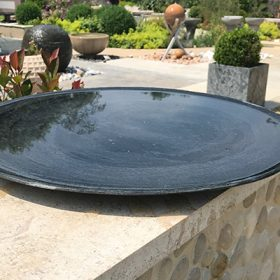 Flight Bowl – Slate Birdbath