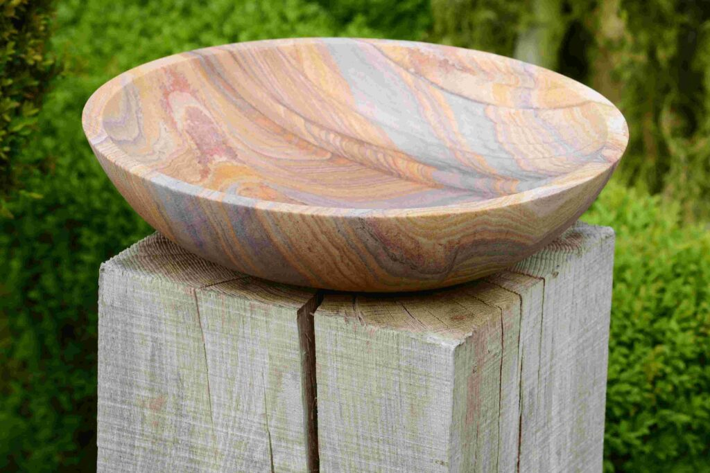 Flight Bowl Rainbow Sandstone Birdbath Foras Home Amp Garden