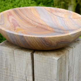 Flight Bowl – Rainbow Sandstone Birdbath – Bowl Only