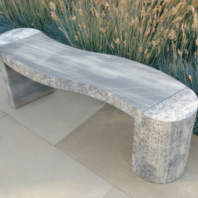 Jasper Curved Shark Sandstone Bench