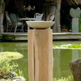 Weathered Oak Wooden Plinth