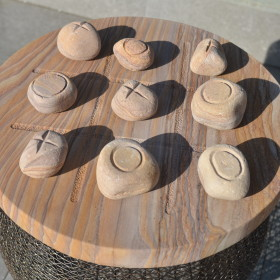 Rainbow Sandstone Stone Cross Game