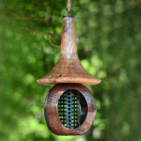 Large Open House Copper Bird Feeder