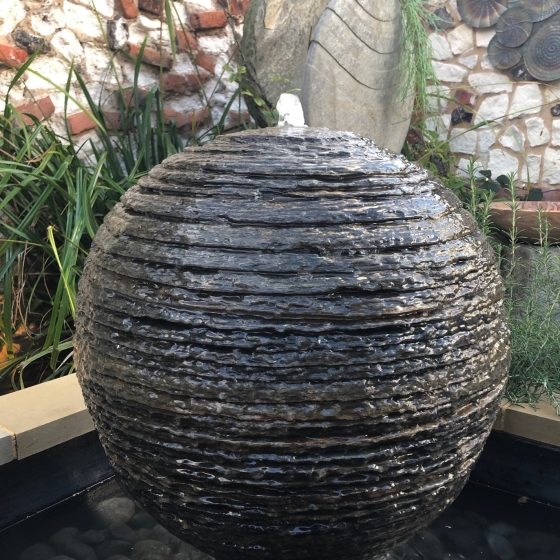 Belmont Layered Slate Water Feature and Kit