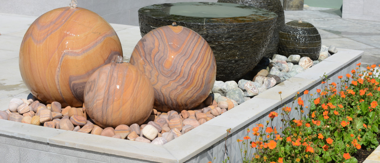 slate sandstone frost resistant water features