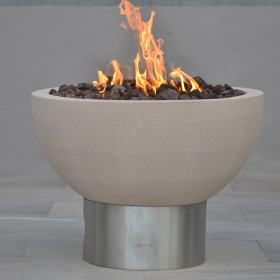 Pure Beige Gas Fire Pit