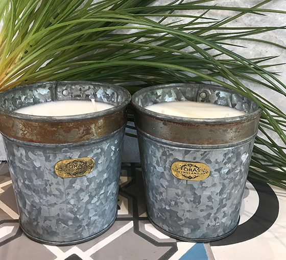 Croxton Candle Lime Basil and Mandarin – Set of Two