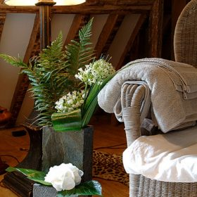 Surmi Natural Slate Vase – 45cm Rectangle