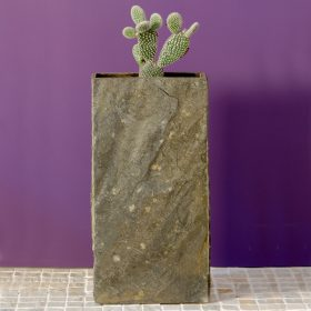 Surmi Natural Slate Vase – 45cm Rectangle