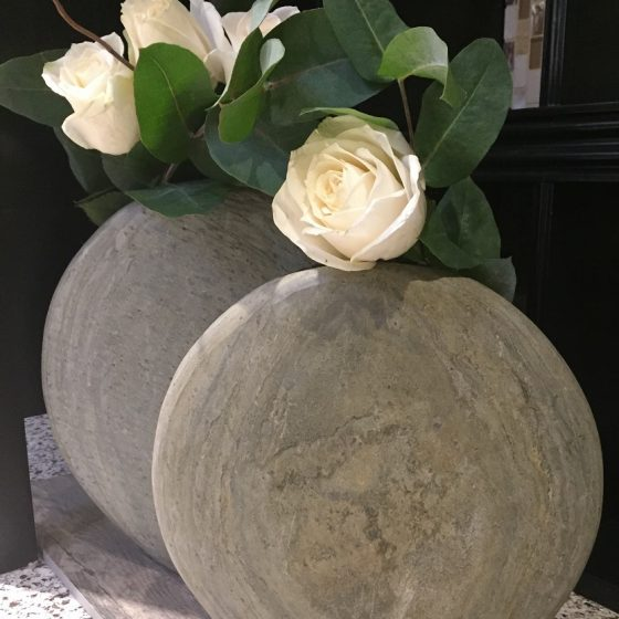 Abalone Natural Slate Vase / Sculpture