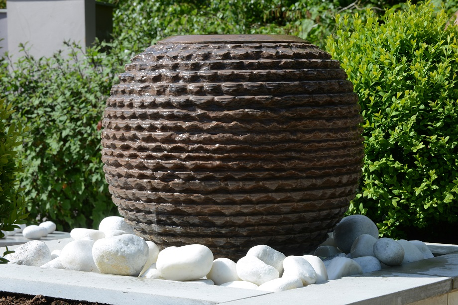 Bliss Inca Sphere Sandstone Water Feature Kit From Foras