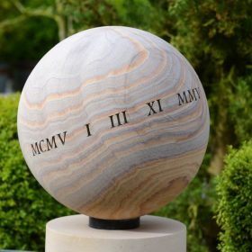 Engraved 40cm Philosophy Sphere – Roman Numerals