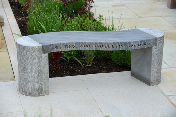 Awesome Philosophy Engraved Jasper Shark Sandstone Bench Only Those Who Find Life Find Treasures Foras Caraccident5 Cool Chair Designs And Ideas Caraccident5Info