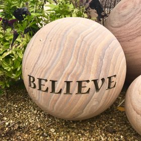 Engraved Sphere – Believe