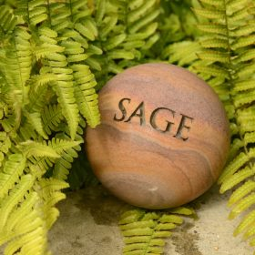 "Philosophy Engraved Herb Sphere ""Sage"""