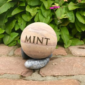 Engraved Sphere – Herb Mint