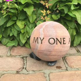 Engraved Sphere – My One and Only