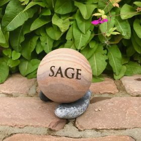 Engraved Sphere – Herb Sage