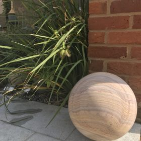 Set of 4 Rainbow Sandstone Sculptural Spheres – 30cm