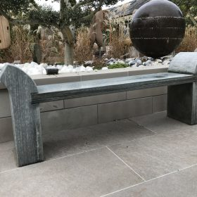 Strabo Ebony Grey Sandstone Bench