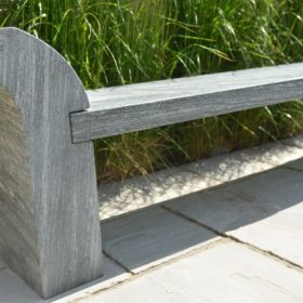 Strabo Ebony Grey Sandstone Bench