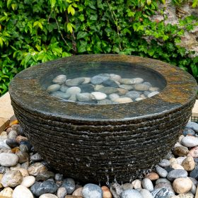 Pure Layered Slate Water Feature and Kit- PRE-ORDER Product Available Spring 2020