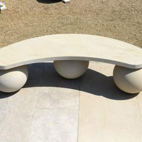 Optical Sandstone Bench