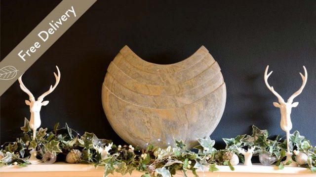Surmi Small Slate Vase - 22cm