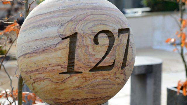 Personalised 40cm Rainbow Sandstone Sphere