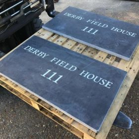 Personalised Engraved Black Limestone Plaque